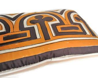 Vintage Vera Scarf Pillow with Down Insert // Vera Neumann // Silk Pillow // Mid Century Modern Pillow // Vera Neumann Scarf Pillow
