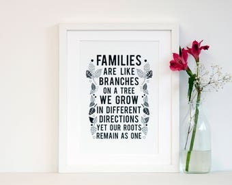 Family Tree art - gifts for family - family gift - gift for families - fathers day gift - dad gift - gifts for parents - gifts for grandma