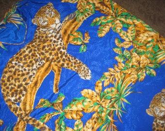 Vintage Desgner Caftan/One Size/Jungle Print/Wildlife Print Caftan