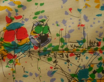 Colorful Vintage Boating Square Scarf