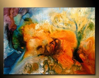 Abstract Art Huge Abstract Painting Original Abstract painting Contemporary Modern Fine Art Colorful Canvas Art by Henry Parsinia 48x36