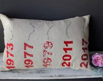 40th anniversary gift / Ruby Wedding Anniversary Cushion / Wedding Anniversary cushion / Personalised anniversay gift