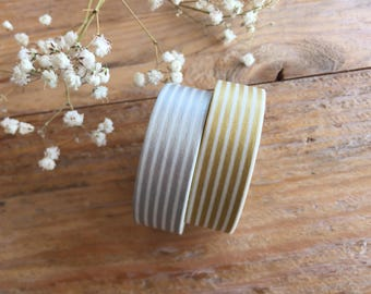 MT 2016 S/S - Japanese Washi Masking Tapes /Gold or Silvern Border Stripes at your choice for packaging, party deco, card making