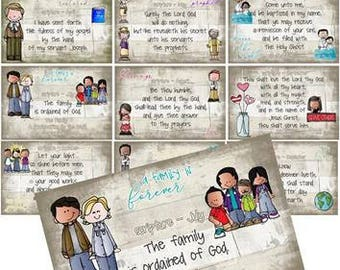 2018 LDS primary MONTHLY SCRIPTURES I am a Child of God 4x6 size