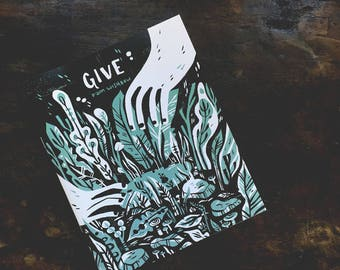 Give and Hunt - double sided comic - Pam Wishbow and Leigh Luna