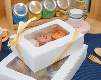 5 Window Macaron boxes (6 holding type)