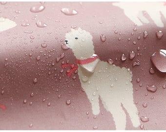 1 Yard -Waterproof  fabric (cotton) - Alpaca
