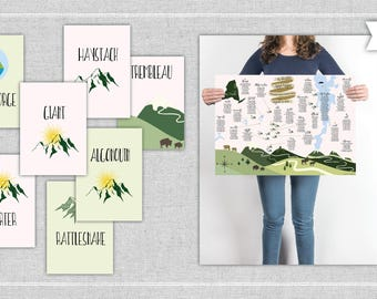 Mountain Wedding Seating Chart & Table Numbers. Mountain Seating Chart. Map Seating Chart. Ski Mountain. Summer Mountain.