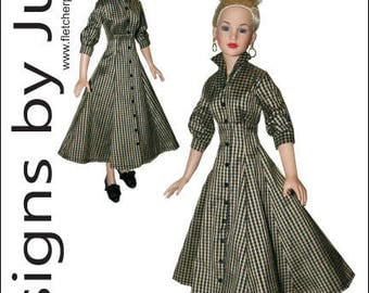 """PDF Shining Hour Pattern for 18"""" Kitty Collier Dolls Tonner"""
