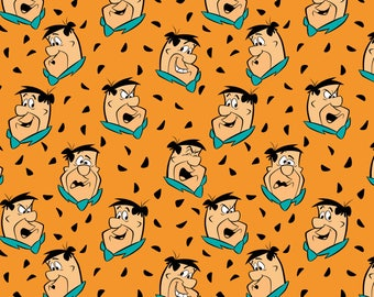 Flintstones Fred in Multi- Licensed Hanna Barbara Fabric  - you choose the cut