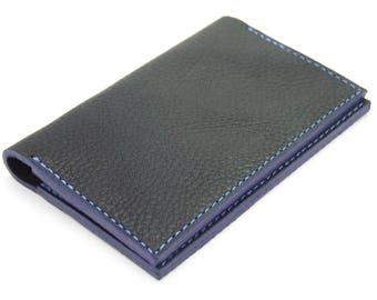 Blue leather cardholder