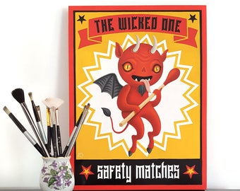 The Wicke One Safety Matches - original painting by Grelin Machin