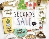 SECONDS SALE - Enamel Pins - pins - lapel pins -