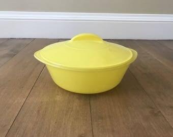 Vintage Yellow Glasbake Glassbake J514 Casserole Dish 2 QT