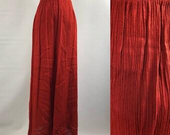 Vintage Rust Bohemian Maxi Skirt sm-large
