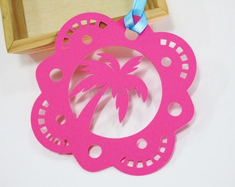 Tropical Tag - Cardstock 260gr - 11.5 x 11.5 cms - Gift tag - Price Tag - Wedding Rustic Tag - Made to Order.