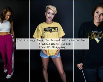 Back to School Clothing - Athletic Wear - Vintage Crewneck Sweatshirt - Vintage Nike - 90s Adidas - Vintage Windbreaker - Athletic Crop Top