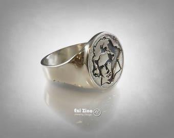 Ludwig Van Beethoven German composer & pianist  Ring Solid Sterling Silver 925 By Ezi Zino