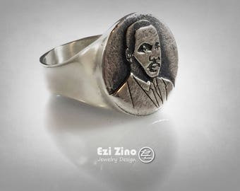 Ezi Zino ring Martin Luther King African-American Civil Rights Movement 925