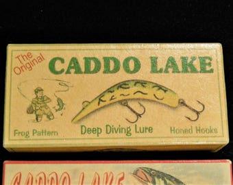 Caddo Lake Texas fishing lake house cabin decor lure boxes