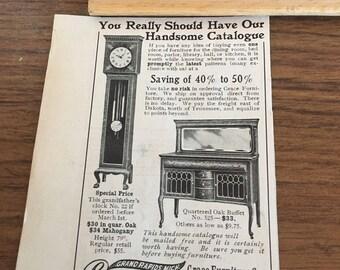 Grace Furniture Company ad circa 1905 Grand Rapids Michigan 2 1/2 x 4.