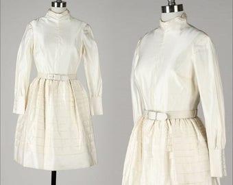 25% OFF SALE DAVID Styne . vintage 1960s dress . vintage wedding dress . 4355
