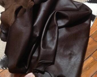 BR228.  Dark Brown Leather Cowhides