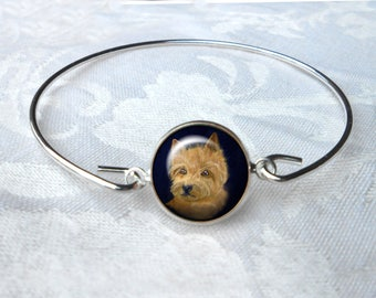 Norwich Terrier Bangle Bracelet ~ Girlfriend Gift ~ Wire Bangle ~ Dog Jewelry ~ Norwich Terrier