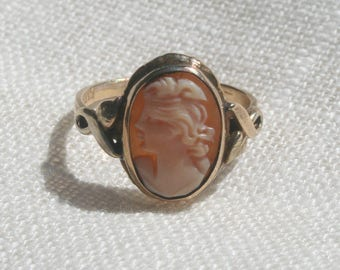Vintage Gold Filled Cameo Ring Sz 6.5/7
