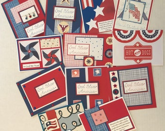 12 Patriotic Cards, Patriotic Cards, God Bless America Cards, God Bless America, Christian Cards, Greeting Cards, Handmade Cards.