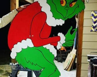 Wooden 6ft Grinch
