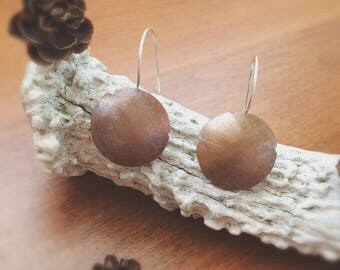 Dome Patina Copper Earrings