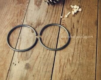 Blackened Copper // 6 gauge hoop earrings