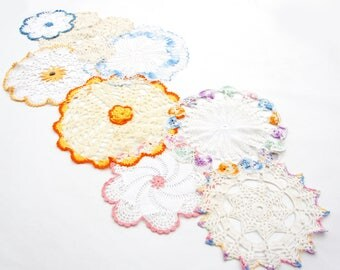 Handmade Multiple Crochet Doilies Table Runner/Shabby Chic/Bohemian Chic/Boho/Farmhouse Decor
