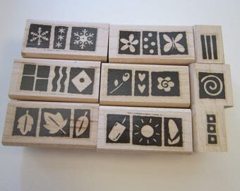 9 rubber stamps - Suitable for Framing - Stampin Up 2004