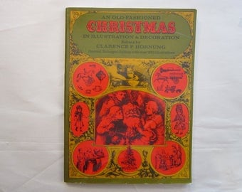 vintage clip art book - An Old Fashioned CHRISTMAS - circa 1975, Dover