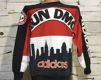 Vintage 80's RUN DMC My adidas Sweatshirt Limited Edition Men's Small (ps-ss-7)