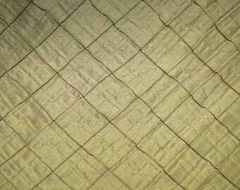 Green Pintuck Diamond Fabric