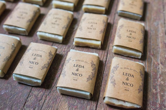 Wedding Soap Favors - Party Favors - Personalized Wedding - Wedding Soap - Rustic Wedding Favors - Stocking Stuffer - Handmade Soap Favors