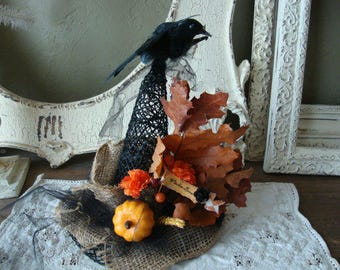 Witch Hat table decor burlap black Hat Witches Brew floral witch hat home decor halloween table decoration Cottage Chic farmhouse witch