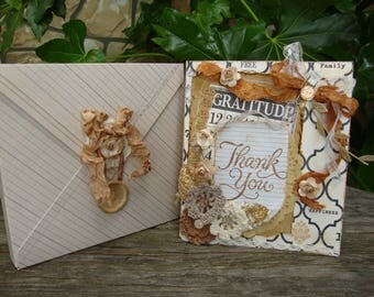 thank-you card for friend embellished card with envelope box