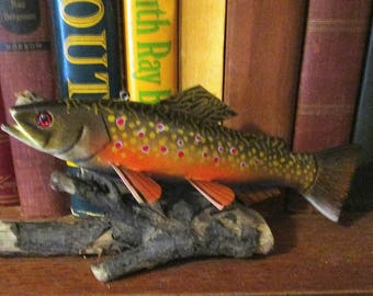 Brook Trout- Brookie! James Stangland Fish Decoy/Carving