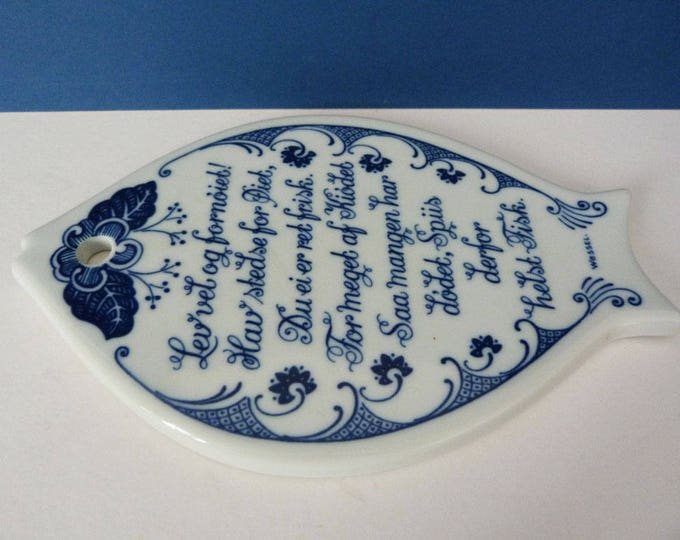 Porsgrund vintage trivet / cheese board Norway