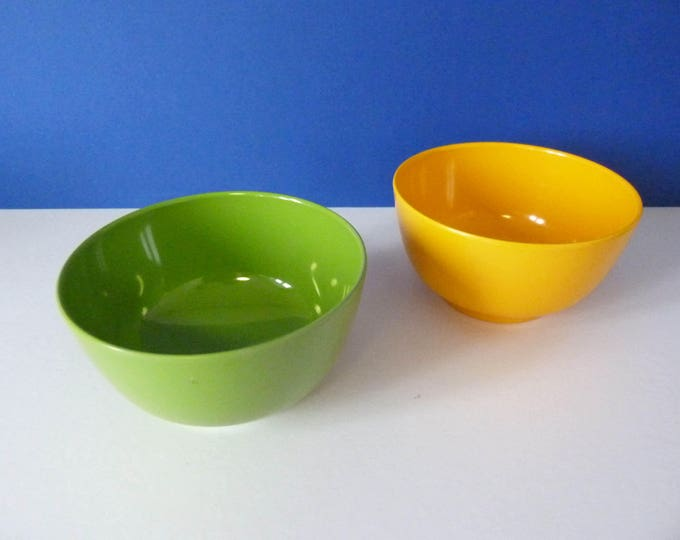 1970s vintage Danish Rosti mepal bowls