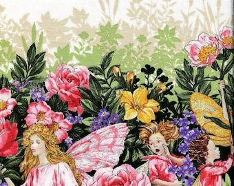 Bloom Fairy Dream Flowers Border - Michael Miller - Half Yard