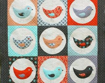 """Nine Birds Quilt (59"""" x 59"""") Pattern by Emma Jean Jansen"""