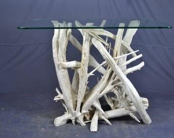 White driftwood sofa/foyer table