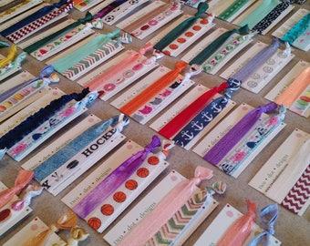 Elastic hair ties, designer's choice, set of 14