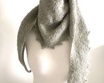 Hand knitted shawl  shawlett scarf