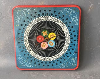 Vintage Metal Tabletop Game, BINGO,  spinner, lithograph